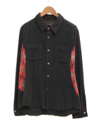 UNDERCOVERISM()の古着「切替シャツ」|ブラック