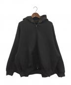 FUMITO GANRYU(フミトガンリュウ)の古着「KIMONO ZIP-UP PARKA」|ブラック