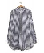 ()の古着「ストライプBDシャツ」 ネイビー×ホワイト
