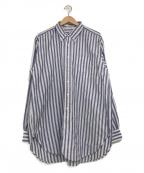 Engineered Garments(エンジニアドガーメンツ)の古着「ストライプBDシャツ」 ネイビー×ホワイト