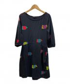 marimekko(マリメッコ)の古着「カットソーワンピース」|ブラック