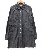 Engineered Garments()の古着「シャンブレーロングシャツ」|ネイビー