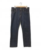 PT05(ピーティーゼロチンクエ)の古着「ストレッチテーパードデニムパンツ」|インディゴ