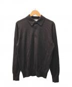 TOMORROW LAND tricot(トゥモローランドトリコ)の古着「ニットポロシャツ」|ブラウン