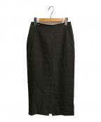 SLOBE IENA(スローブ イエナ)の古着「ウール混ツイルロングタイトスカート」|カーキ