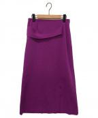 ADORE(アドーア)の古着「ドライストレッチニットスカート」|ピンク