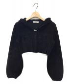 Rene(ルネ)の古着「フーディショートボレロ」|ブラック