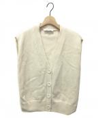 ENFOLD(エンフォルド)の古着「メリノウールスリットベストカーディガン」 オフホワイト
