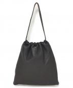 Aeta(アエタ)の古着「ディアレザー巾着型ショルダーバッグ」 ブラック