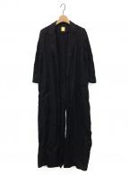 MUSE de Deuxieme Classe()の古着「DUSTERリネンツイルコート」 ブラック
