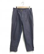 KOLOR(カラー)の古着「ARMY SERGE CROPPED PANTS」|ネイビー