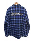 SUPREME(シュプリーム)の古着「Arc Logo Quilted Flannel Shirt」|ブルー×ブラック