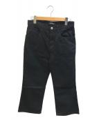 ()の古着「クロップドパンツ」|ブラック