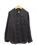 JUNYA WATANABE COMME DES GARCONS()の古着「ビッグカラーリネンシャツ」|ネイビー