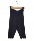 PERVERZE(パーバーズ)の古着「Cotton Rib HALF Pants」|ブラック