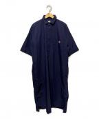 DANTON(ダントン)の古着「オーバーサイズシャツワンピース」|ネイビー