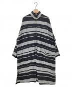 YACCO MARICARD(ヤッコマリカルド)の古着「シャツワンピース」|ブラック