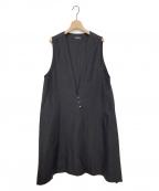 YACCO MARICARD(ヤッコマリカルド)の古着「ロングベスト」|ブラック
