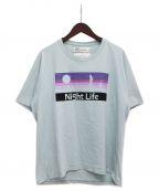 DAIRIKU(ダイリク)の古着「Night LifeプリントTシャツ」 スカイブルー