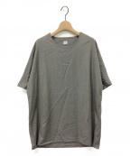 E.TAUTZ(イートーツ)の古着「ウールシルクTシャツ」|グレー