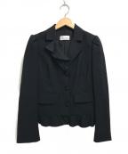 RED VALENTINO(レッドヴァレンティノ)の古着「フリルテーラードジャケット」 ブラック