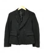 BLACK COMME des GARCONS(ブラックコムデギャルソン)の古着「ポリ縮絨ダブルジャケット」 ブラック