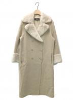 FOXEY BOUTIQUE(フォクシー ブティック)の古着「カシミヤウールロングコート」|ベージュ