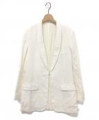 FUMIKA UCHIDA(フミカ ウチダ)の古着「SILK/LINEN_ SHAWL COLLAR JACKE」|ホワイト