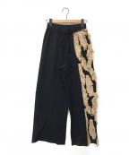 Lautashi(ラウタシー)の古着「ニットパンツ」 ブラック