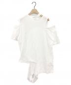 TOGA ARCHIVES(トーガアーカイブス)の古着「カットアウトTシャツ」|ホワイト