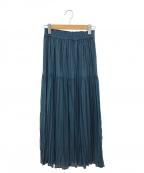 La TOTALITE(ラトータリテ)の古着「シフォンニットワッシャースカート」|ブルー
