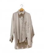 RIM.ARK(リムアーク)の古着「バックボリュームシルエットシャツ」|ベージュ