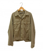 AP STUDIO(エーピーストゥディオ)の古着「サマーオーバーサイズミリタリージャケット」 オリーブ