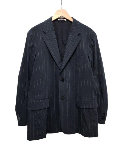 AURALEE(オーラリー)AURALEE (オーラリー) フィンクスナイロン ストレッチジャケット ネイビー サイズ:4の古着・服飾アイテム