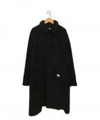 BEDWIN &THE HEARTBREAKERS(ベドウィンアンドザ ハートブレイカーズ)の古着「ボアフリースステンカラーコート」 ブラック