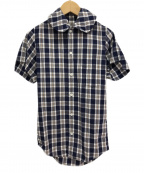 JUNYA WATANABE COMME DES GARCONS()の古着「半袖チェックシャツ」|ネイビー