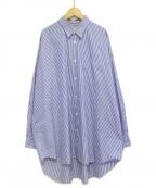JUNYA WATANABE COMME DES GARCONS()の古着「ストライプオーバーサイズシャツ」|スカイブルー