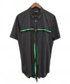 COMME des GARCONS HOMME PLUS(コムデギャルソンオムプリュス)の古着「半袖シャツ」 ブラック