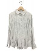 PLEATS PLEASE(プリーツプリーズ)の古着「ストライプシャツ」
