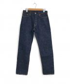 ordinary fits(オーディナリーフィッツ)の古着「5ポケットワンウォッシュデニムパンツ」|インディゴ