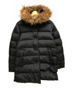 Traditional Weatherwear(トラディショナルウェザーウェア)の古着「ファー付ダウンコート」|ブラック