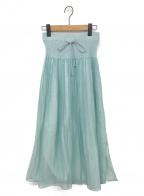 ISSEY MIYAKE FETE(イッセイミヤケフェット)の古着「スカート」 ライトブルー