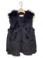 REKISAMI(レキサミ)の古着「フォックスファー中綿ベスト」|ブラック