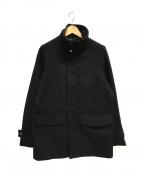 ck Calvin Klein(シーケーカルバンクライン)の古着「デンスフェルトスタンドカラーブルゾン」|ブラック
