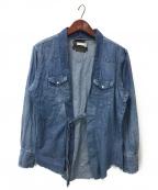 OLD PARK(オールドパーク)の古着「再構築デニム袢纏シャツ」|インディゴ