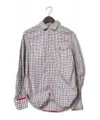()の古着「切替チェックシャツ」|トリコロールカラー