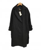 ZARA(ザラ)の古着「MANTECOウールガウンコート」 ブラック