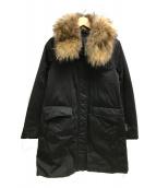 YOSOOU/粧う(ヨソオウ)の古着「ラークンファーダウンコート」|ブラック