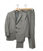 RING JACKET(リングジャケット)の古着「ストライプセットアップスーツ」 ライトグレー
