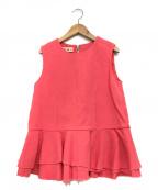 MARNI(マルニ)の古着「ノースリーブブラウス」|ピンク